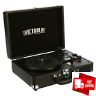 Victrola Record Player Bluetooth Turntable With Built In Speakers 3 Speed Black