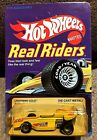 Hot Wheels Real Riders LIGHTNING GOLD YELLOW 2 Unpunched Card 1982 Malaysia