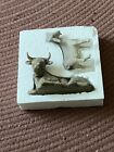 Willow Tree Ox and Goat Sculpted Hand Painted Nativity Figures 2 Piece Set