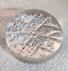 Clear Glass Snowflake Paper Weight Decor