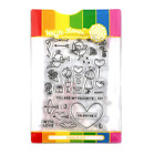 Waffle Flower FAVORITE VALENTINE COMBO Clear Stamps  Matching Metal Die Set