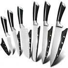 MUZ Stainless Steel Kitchen Knives Cutlery Knife Set Black Handle Willow Blade