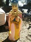 General Foam Blow Mold Christmas Nativity 3 Kings Wise Man Pink Robe Lighted