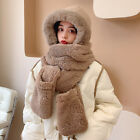 Women's Cute Bear Ear Bunny Hat Scarf Gloves Many Styles Colors