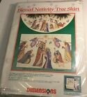 DIMENSIONS BLESSED NATIVITY TREE SKIRT  8379 COUNTED CROSS STITCH KIT NEW