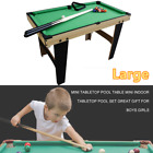 Kids Children Billiards Set Wooden Tabletop Pool Table Snooker Home Game Toys US
