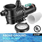 VIVOHOME 20 HP 6800 GPH In Above Ground Swimming Pool Pump Dual Voltage UL CET