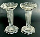 Pair of Waterford Marquis Corinth Reversible Pillar Candle Holder Vase Two n One
