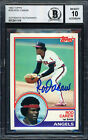 ROD CAREW AUTOGRAPHED 1983 TOPPS CARD #200 ANGELS AUTO GRADE 10 BECKETT 186067