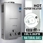 18L Natural Gas Hot Water Heater 5GPM On Demand Tankless Instant Boiler + Shower