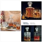 Paksh Novelty 7 Piece Italian Crafted Glass Decanter  Whisky Glasses Set Elega