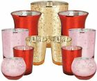 Just Artifacts 11pcs Valentines Day Mercury Glass Votive Candle Holders