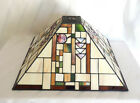 Tiffany Style Mission Arts  Crafts Stained Slag Glass Lamp Shade 16 Square