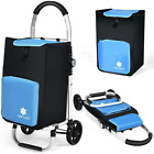 Folding Rolling Utility Carry Shopping Grocery Cart Outdoor with Removable Bag