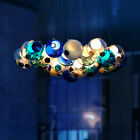 Modern Chic Cluster Pendant Light with Multi color Hand blown Glass Globes Party