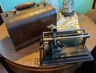 COLUMBIA Q GRAPHOPHONE BUSY BEE CYLINDER PHONOGRAPH WOOD CASE REPRODUCER KEY VTG