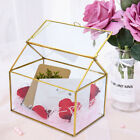Glass Vase Plant Rose Holder Geometric Gold Succulent Display Box Gift Organizer