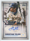 CHRISTIAN YELICH 2021 Topps Series 1 70 YEARS OF BASEBALL AUTO SSP AUTOGRAPH