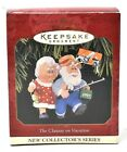 RARE NEW HALLMARK 1997 THE CLAUSES ON VACATION #1 FISHING CHRISTMAS ORNAMENT WOW