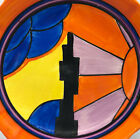 EXRARE CLARICE CLIFF BEAUTIFUL SUNRAY LARGE PLATE RARE PATTERN ART DECO BIZARRE!