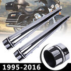 DNA LR 4 Megaphone Slip On Mufflers For Harley Touring Exhaust Pipe 1995 2016