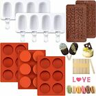 3 Pieces Round Cylinder Silicone Candy Mold 6 Holes Chocolate Cover Cookie Mold