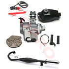 49cc 50cc 2 Stroke Engine Motor Full Kit Exhaust Mini Dirt Bike Chopper Scooter