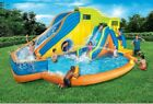 Banzai Pipeline Twist Aqua Park  Inflatable Outdoor Water Pool and Slides