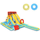 Costway 7 in 1 Inflatable Dual Slide Water Park Climbing Bouncer Without Blower