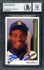 Ken Griffey Jr. Autographed 1989 UD Rookie Card Gem 10 Auto Beckett 12411372