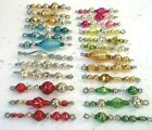 24 ALL Vintage MERCURY GLASS Bead RARE Garland ICICLE Tinsel Ornaments