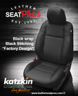 Leather Seat Covers Kit 2016-2021 Toyota Tacoma Double Cab Black Factory Match