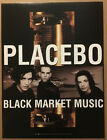 PLACEBO Rare 2001 PROMO POSTER for Black Market CD 18x24 USA NEVER DISPLAYED