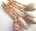 Lovely Set of 6 Shabby VINTAGE  NEW Rustic Mercury Glass Bead ICICLE ORNAMENTS