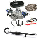 Racing Big Bore 2 Stroke 49cc 50cc Engine Motor Exhaust Kit Scooter Bicycle ATV