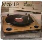 ION Audio Max LP Vinyl Record Player Turntable with Built In Speakers USB Output