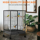 30 Wrought Iron Bird Cage w Rolling Stand Parrots Conure Lovebird Cockatiel