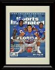 Framed Tim Tebow, Percy Harvin, Brandon Spikes SI Autograph Promo Print -