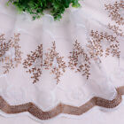 Voile Tulle Trimmings Floral Embroidered Lace Mesh Curtain Sewing Craft Fringe