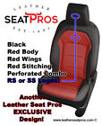 Alea Leather Seat Covers 16 21 Camaro Coupe Convertible Black Red RS SS Logos