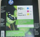 HP 951XL Color Ink Cartridges Cyan Magenta Yellow EXp 12 22 NEW FREE SHIPPING