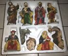 GRANDEUR NOEL COLLECTABLE 9 PC FINELY DETAILED PORCELAIN NATIVITY SET GreenBox
