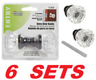 Clear Glass Fluted Door Knobs Classic Bronze Vintage Mortise Lock Set 6 SETS