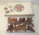 Peggy Karr Fused Glass Christmas Cookies Shallow 10 Tray Plate With Box