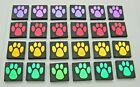 PAW PRINT SET OF 24 pcs ETCHED DICHROIC GLASS EA23 CBS COE 90 FUSING SUPPLY