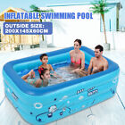 EXTRA LARGE Inflatable Swimming Pool Above Ground for Kids Adult Play 236 Deep