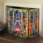 Stained Glass Fireplace Screen Center is 22W the sides are 11W x 28H