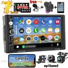 Double 2 Din 7 Car Radio Apple Andriod Car Play BT Stereo Touch Screen + Camera