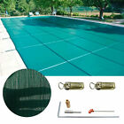Winter Outdoor Swimming Pool Cover 16X32 FT W Center Step Rectangular Safety