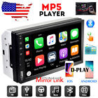 Double 2 Din 7 Car Radio Apple Andriod Car Play Touch Screen Stereo Bluetooth